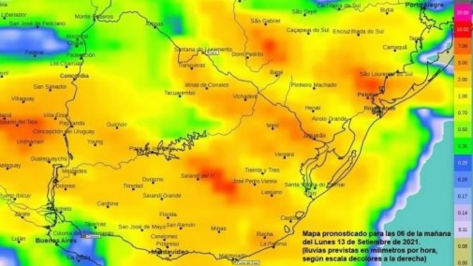 En setiembre la primera mitad con lluvias, y para la segunda no habría precipitaciones —  Clima — Dinámica Rural   El Espectador 810